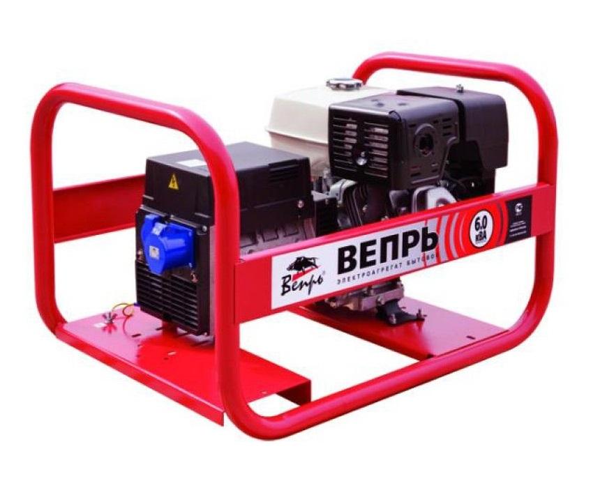 Бензиновый генератор (Бензогенератор) Вепрь АБП 6-230 ВХ-БСГ