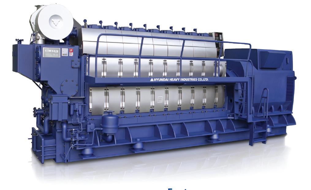 Дизельный генератор (электростанция) Hyundai HiMSEN 8H21C