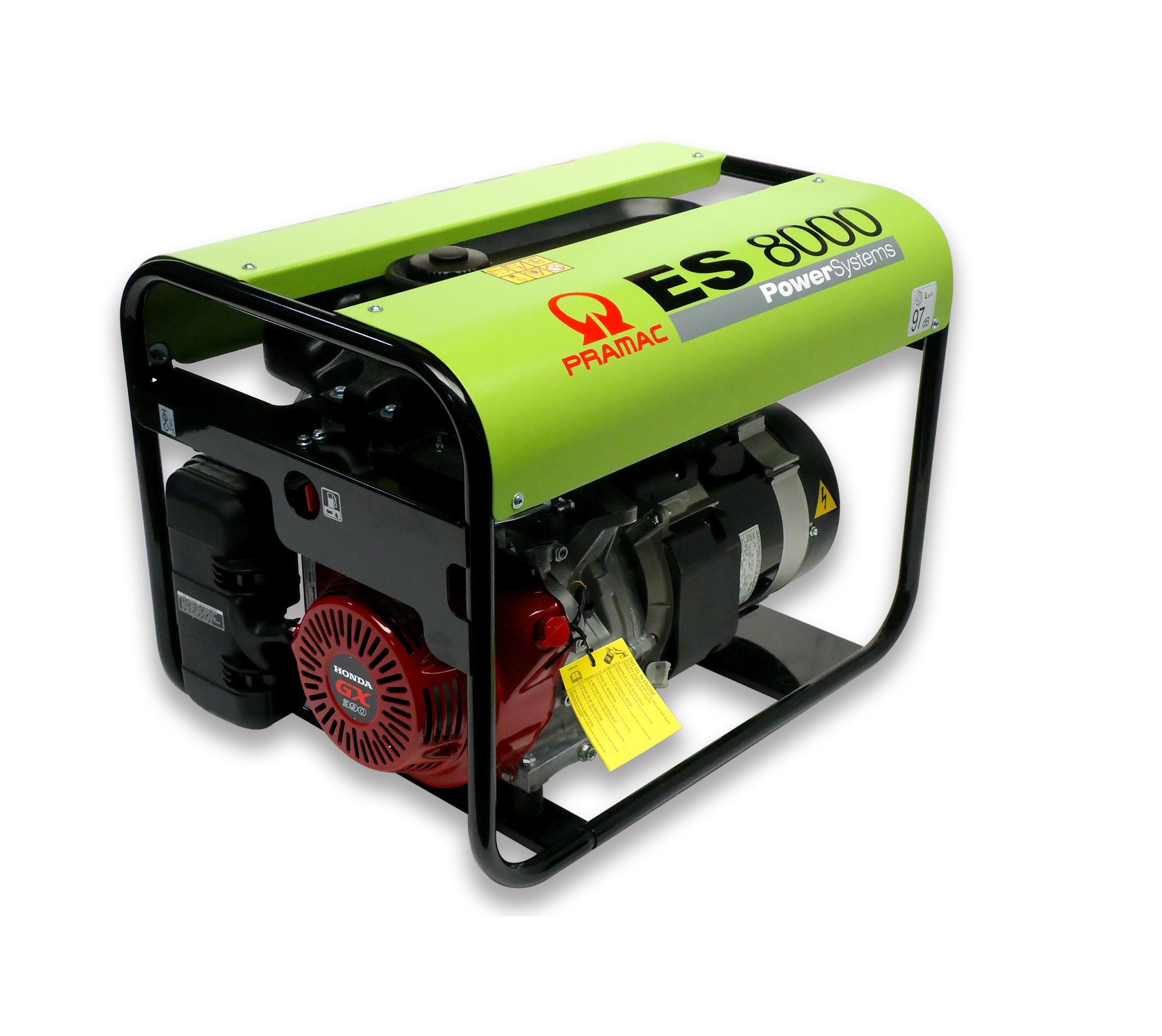 Бензиновый генератор (Бензогенератор) Pramac ES5000, 230V, 50Hz